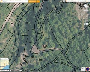 Localisation des parcelles du Fourtou