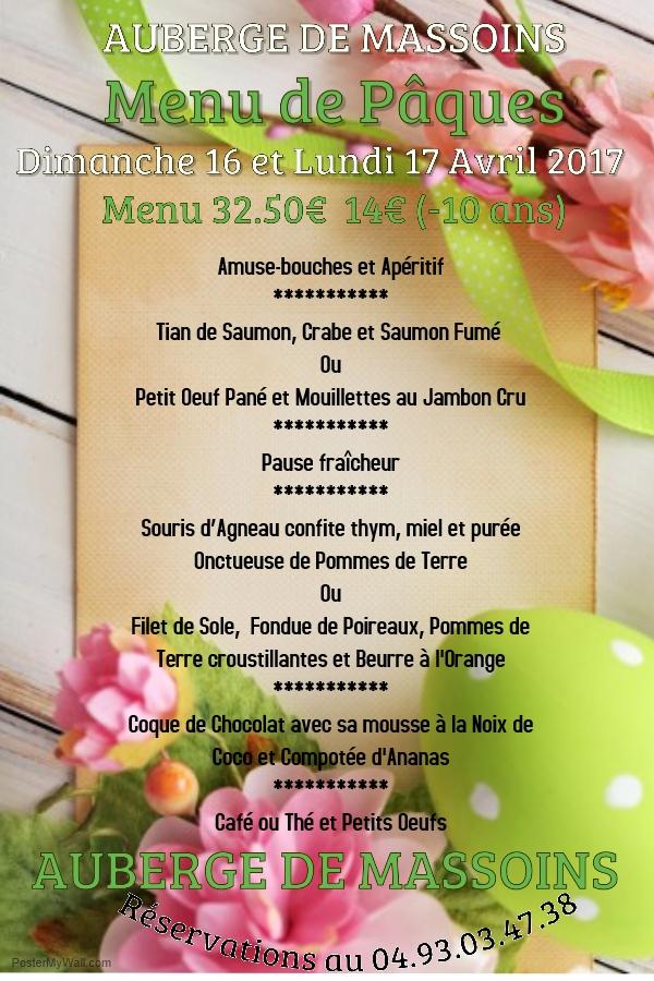 paques 2017 menu